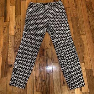 Black/white H&M ankle cropped pants